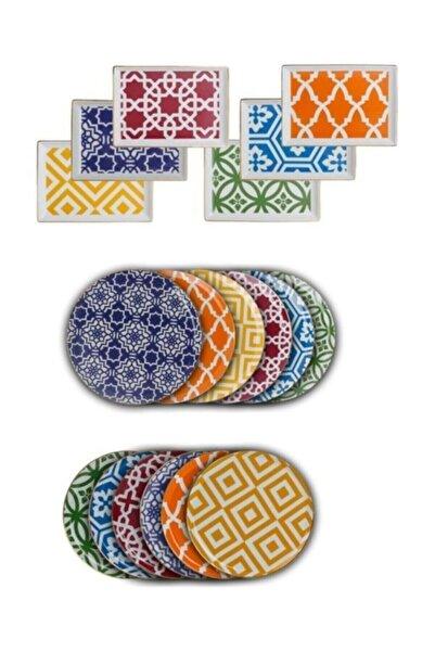 Porland Morocco 18 Parça İkram ve Kahvaltı Takımı 04+p021276