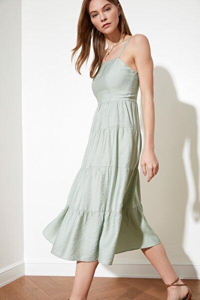 TRENDYOLMİLLA Mint Askılı Elbise TWOSS21EL1134