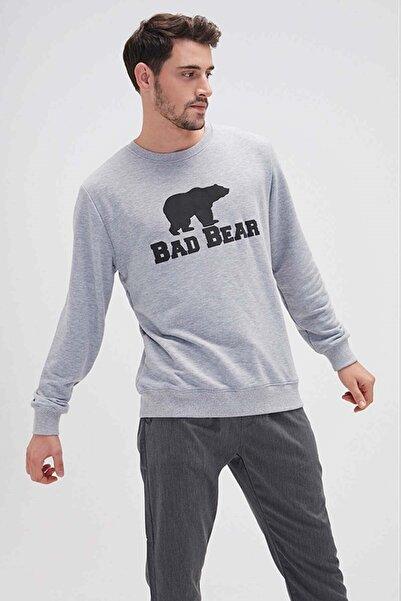 Bad Bear Crewneck Erkek Sweatshirt 20.02.12.011-graymelange