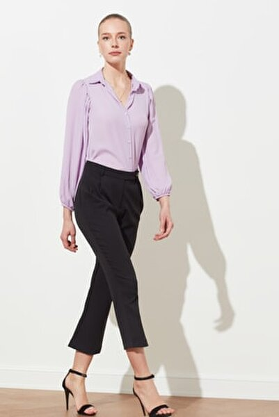 Siyah  Kemer Detaylı Havuç Pantolon TWOSS21PL0023