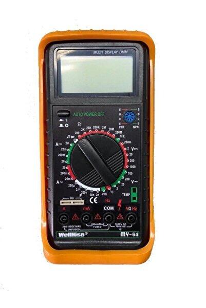 Wellhise My64 Dijital Multimetre Ölçü Aleti Avometre Orjinal Kasa