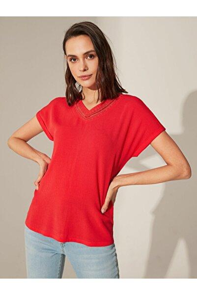 LC Waikiki Kadın Açık Kırmızı  Bluz