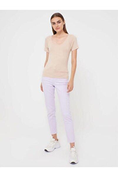 Kadın Bej T-shirt 0SB918Z8
