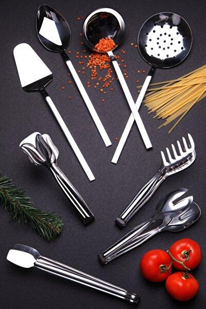 Kitchen Life Lüx Paslanmaz 304 Çelik Maşa Ve Kepçe Seti 8'li