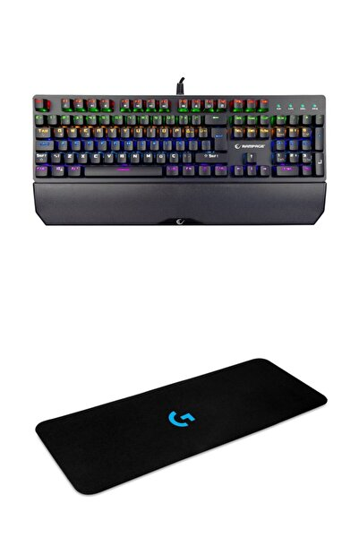 Rampage Kb-r81 Rgb Aydınlatmalı Mekanik Mavi Switch Oyuncu Klavyesi + Klavye Mouse Pad