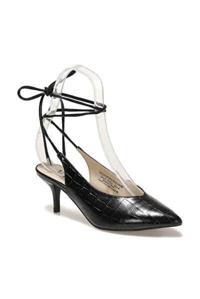 Miss F Ds21019 1fx Siyah Kadın Topuklu Ayakkabı