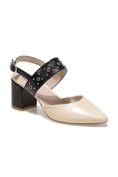 Miss F Ds21021 1fx Bej Kadın Topuklu Ayakkabı