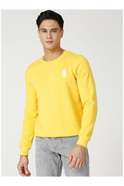 NATIONAL GEOGRAPHIC Unisex Sarı Arma Detaylı Sweatshirt