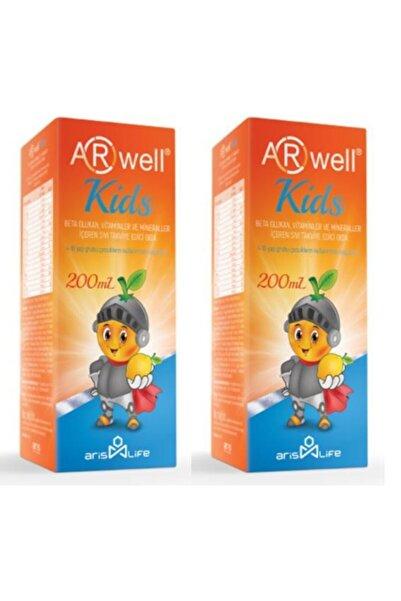 Arwell Kids Beta Glukan Vitamin Ve Mineraller Içeren Takviye Edici Gıda Sıvı Şurup 200 Ml X2