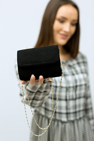 weem bag Kadın Siyah  Minik Nubuk Portföy Çanta