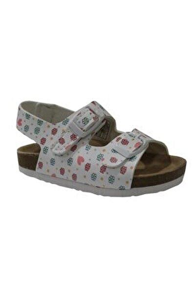 321.P20Y.363 Beyaz Kız Çocuk Sandalet 100578779