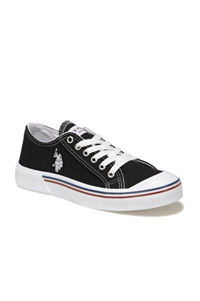 U.S. Polo Assn. Kadın  Siyah Havuz Taban Sneaker 36-40