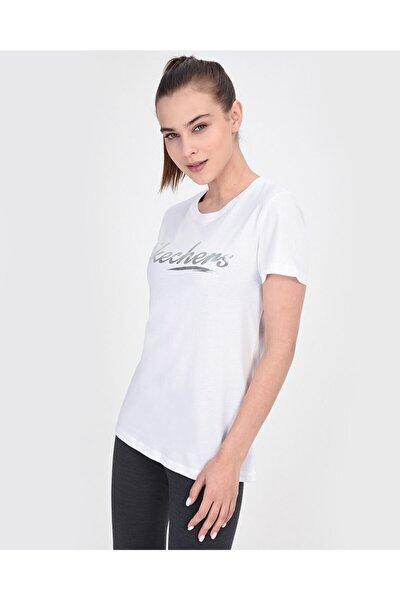 SKECHERS Graphic Tee's W Shine Up Logo Kadın Beyaz Tshirt S201272-100
