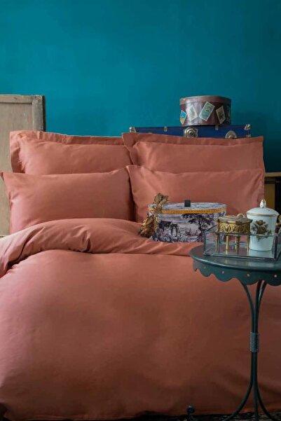 İssimo Home Sımply Bakır Saten Nevresim Takımı Çift Kişilik