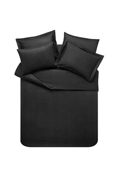 Yataş Bedding Siyah Destra Saten  Çift Kişilik  Nevresim Takımı