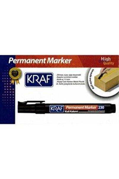 KRAF Permanent Markör Kesik Uç 230 Siyah (12 Adet)1 Kutu