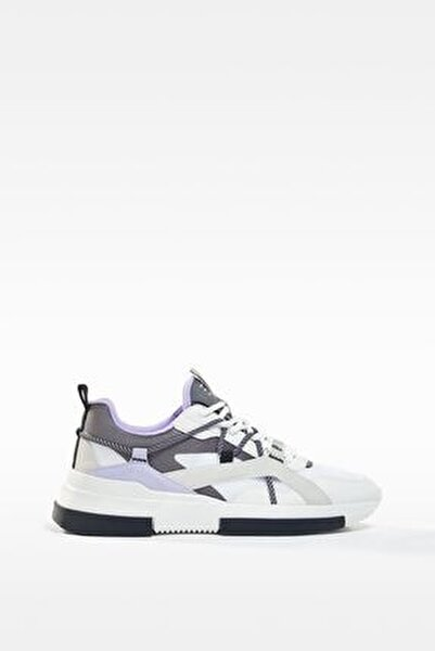 Kontrast Bağcıklı Spor Ayakkabı