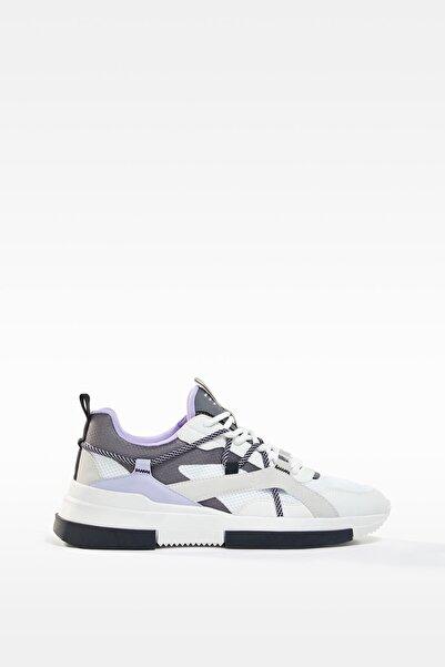 Bershka Kontrast Bağcıklı Spor Ayakkabı