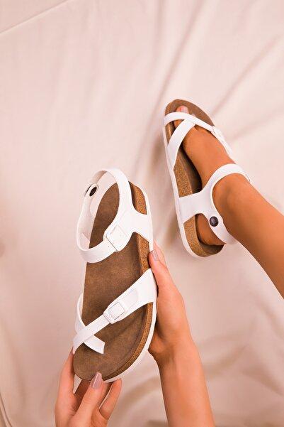 SOHO Beyaz Kadın Sandalet 15922