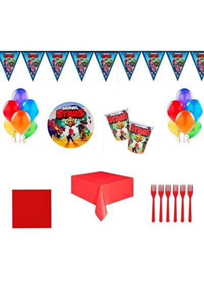 BRAWL STARS 16 Kişilik Doğum Günü Seti