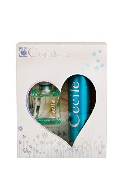 Cecile Iris Edt 100 ml + Deodorant 150 ml Kadın Parfüm Seti 8698438201049