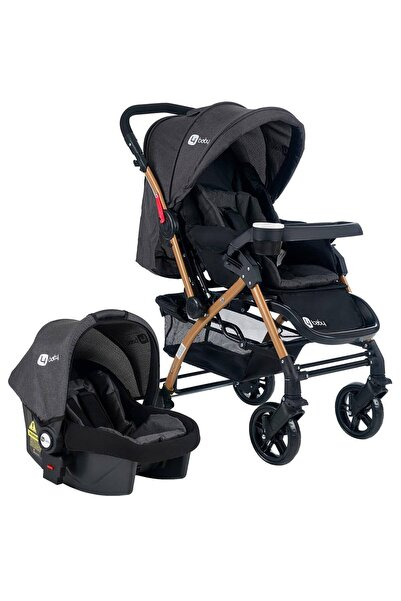 zepkids 4 Baby Ab460 Active Gold Travel Sistem Çift Yönlü Bebek Arabası Antrasit