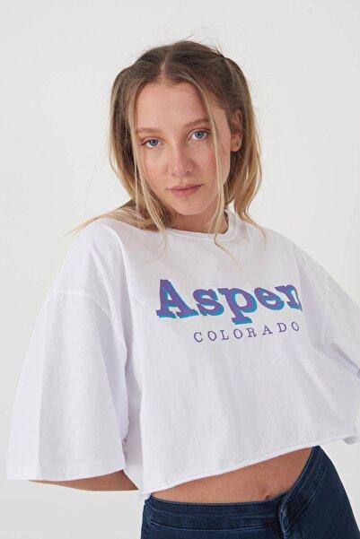 Addax Baskılı Kısa T-shirt P0931 - I5