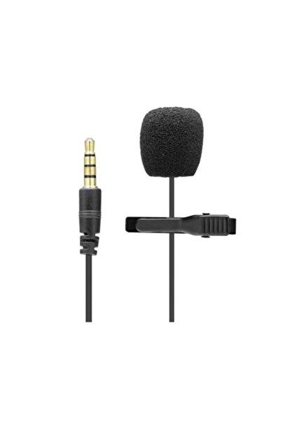 HADRON Jbc-050 Mikrofon Yaka Pc Aux 3.5mm 90cm 2 Boğumlu