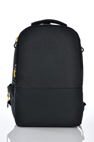 ÇÇS Unisex Siyah Laptop Bölmeli Sırt Çantası