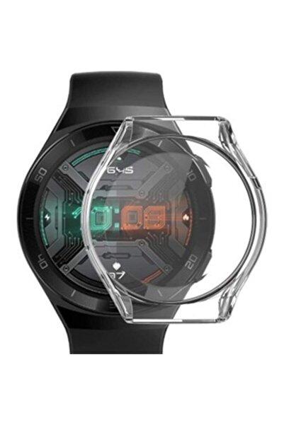MORTY Huawei Watch Gt 2e 46 mm Uyumlu Şeffaf 360 Koruma Silikon Kılıf