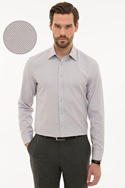 Pierre Cardin Erkek Gri Slim Fit Oxford Gömlek G021GL004.000.1214456
