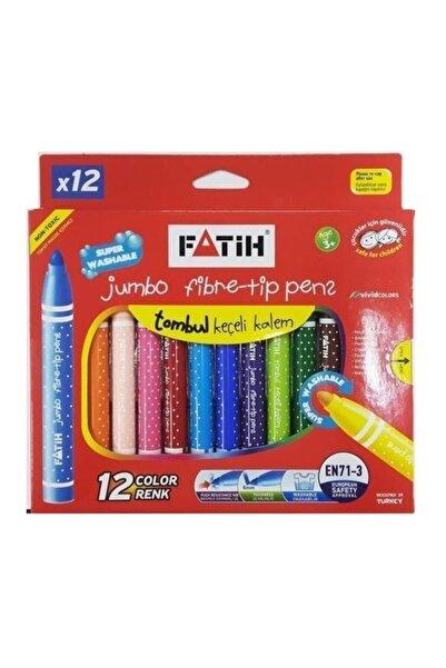 Fatih Jumbo Keçeli Kalem 12 Renk