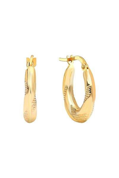 Gelin Pırlanta Gelin Diamond 14 Ayar Altın Halka Küpe (1.5 cm)