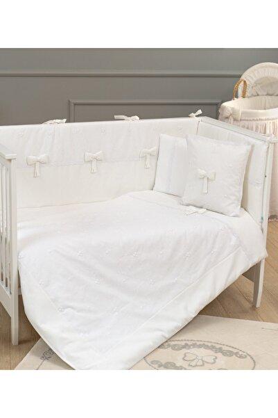 Funna Baby Premium Baby Beyaz 8 Parça 80X140 Bebek Beşik Uyku Seti 5301 /