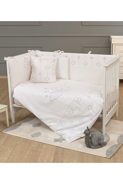 Funna Baby Beyaz Luna Chic 8 Parça 60x120 Bebek Beşik Uyku Seti 0511