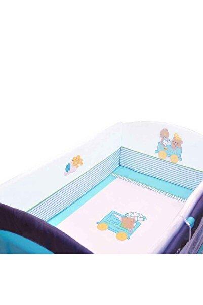 Sunny Baby Ayıcıklı Oyun Parkı Lüks Uyku Seti 70x110 Turkuaz(mnz603)