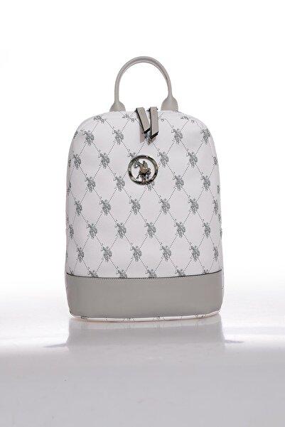 U.S. Polo Assn. Kadın Beyaz Sırt Çantası Us8705