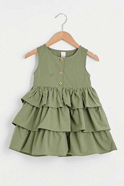 LC Waikiki Kız Bebek Haki Hbv Elbise