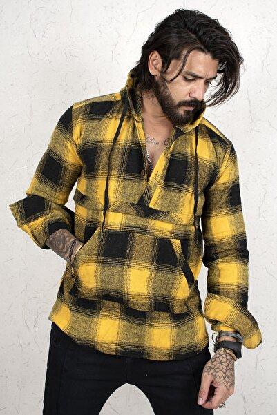DeepSEA Erkek Sarı Uzun Kol Oduncu Gömlek 2101213