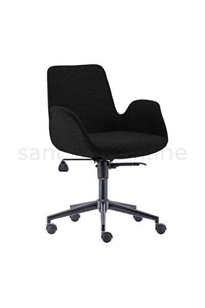 Sandalye Online Tango Çalışma Sandalyesi Siyah Ayak Siyah