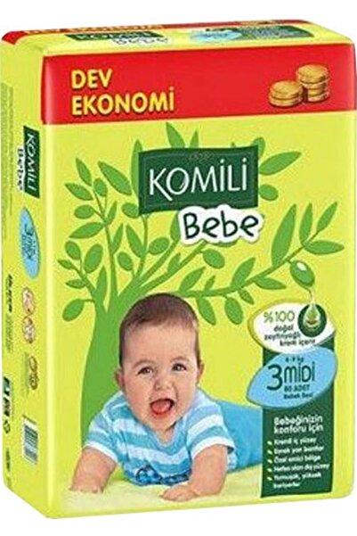 Komili Bebe Bebek Bezi 3 Beden Midi 80 Adet