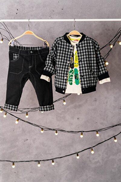 Zeyland Bomber Ceket, Sweatshirt Ve Şalvar Pantolon Takım (6ay-4yaş)