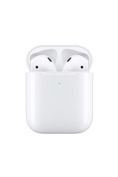 BySarsa Beyaz Iphone Airpods 2 Wireless Şarj Bluetooth Kulaklık