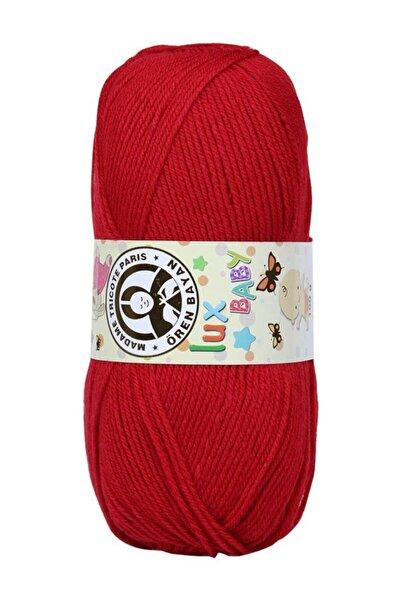 Ören Bayan Lux Baby El Örgü Ipi Kırmızı 033