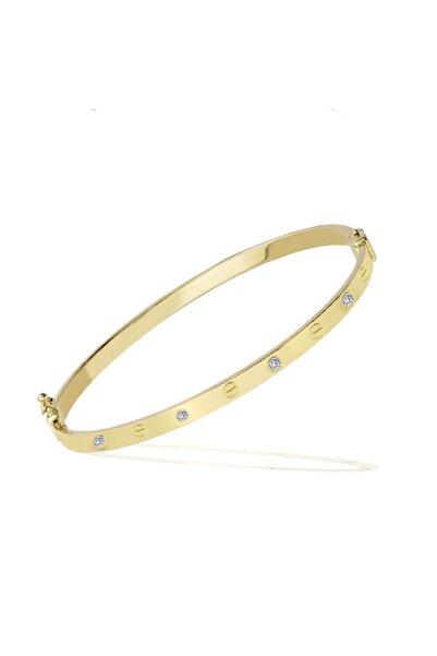 Cartier Love Vidalı Model Taşlı Kelepçe Bileklik