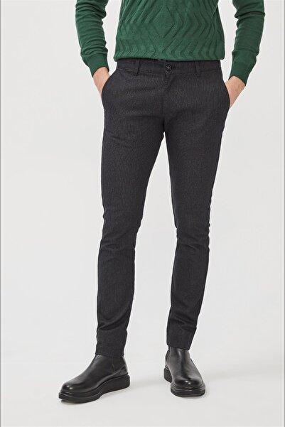 Avva Erkek Siyah Yandan Cepli Armürlü Slim Fit Pantolon A02y3043