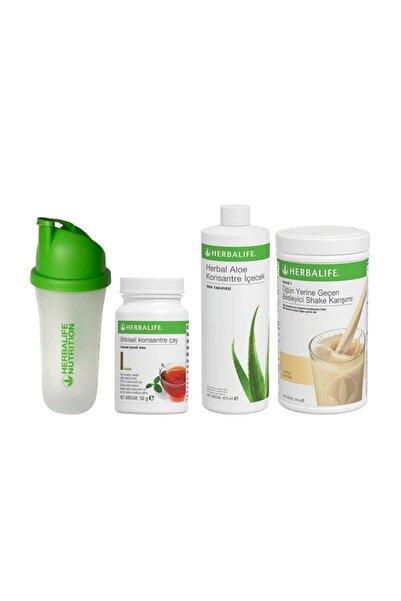 Herbalife Başlangıç Seti-1 ( 1 Vanilyalı Shake+klasik 50 Gr Çay+aloe Konsantre Içecek+ Shaker)