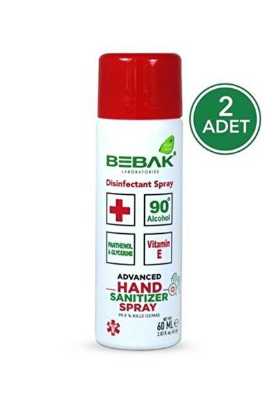 Bebak Mini Sprey El Dezenfektanı 60ml 2 Adet