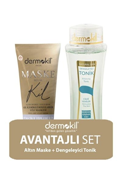 Dermokil Kil Içerikli Gold Maske 75ml Ve Normal Cilt Tonik 200ml 2'li Set