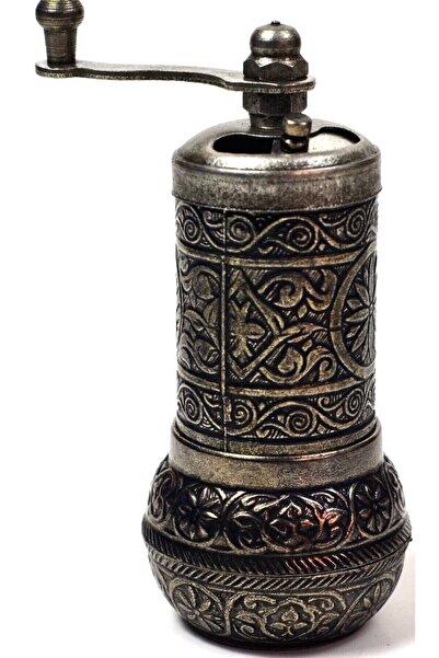 OSMANLI Osmanlı Armalı Karabiber ve Baharat Değirmeni Demir Renk